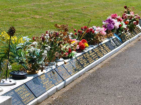 A selection of Kerb Memorials